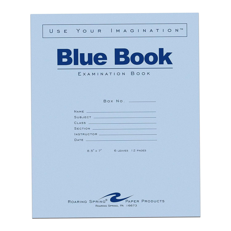 Roaring Spring Papier Produkte Blau Prüfung Buch, 21,6 x 17,8 cm, 50 Bücher Pack (77413) 6 Sheets