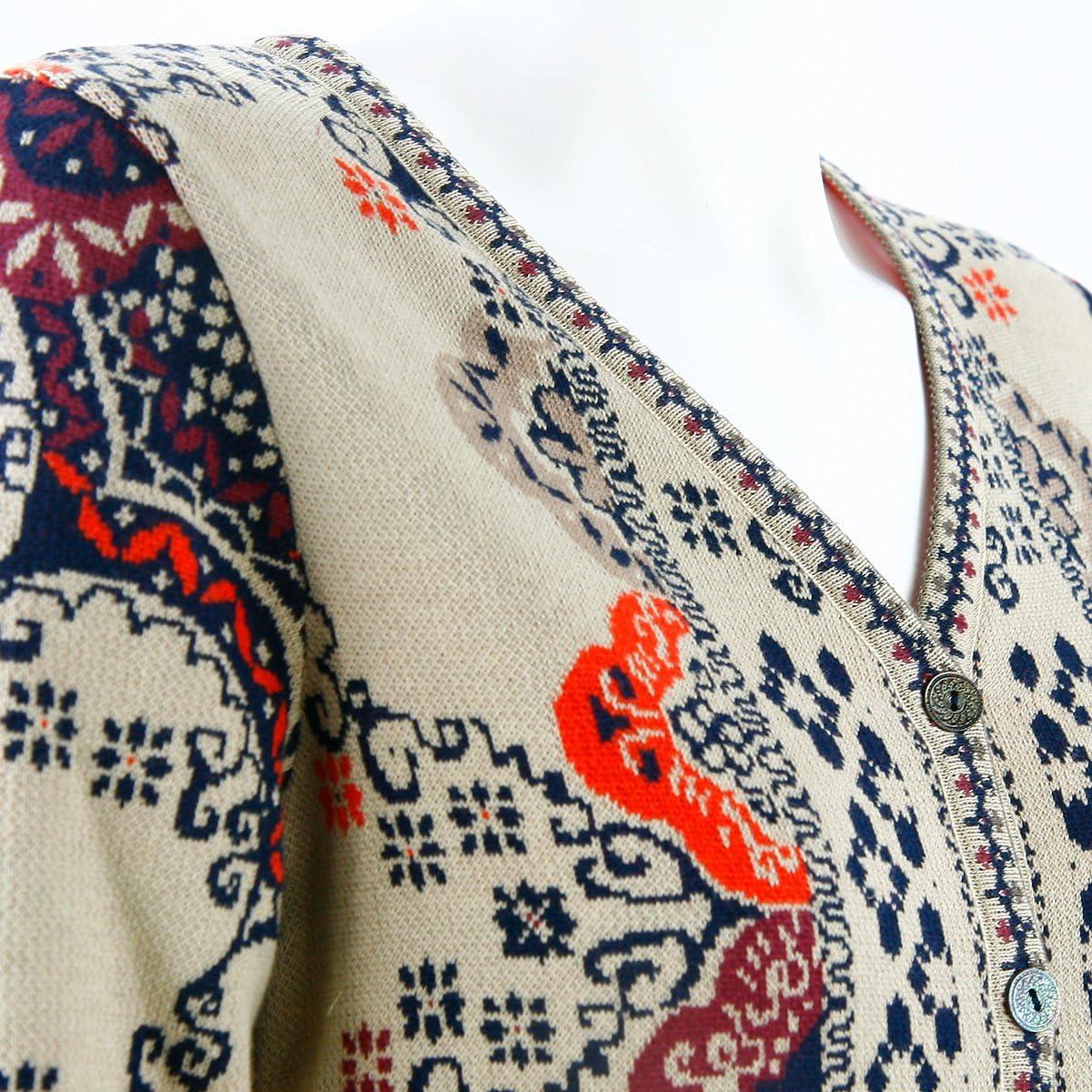 marine blau rot 52522 Lamm Ivko Jacke jacket Cardigan Geometric Pattern Wolle