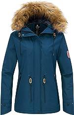 Wantdo Women's Waterproof Ski Jacket Hooded Winter Snow Coat Mountain Snowboarding