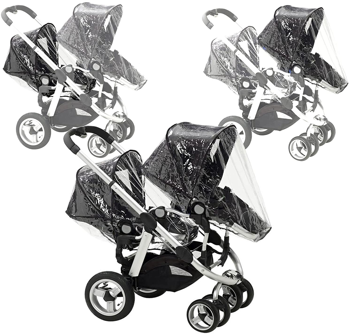 BTI iCANDY Peach x2 Rain Covers Fit Main Seat Unit & Second Seat When Tandem Mode Baby Travel