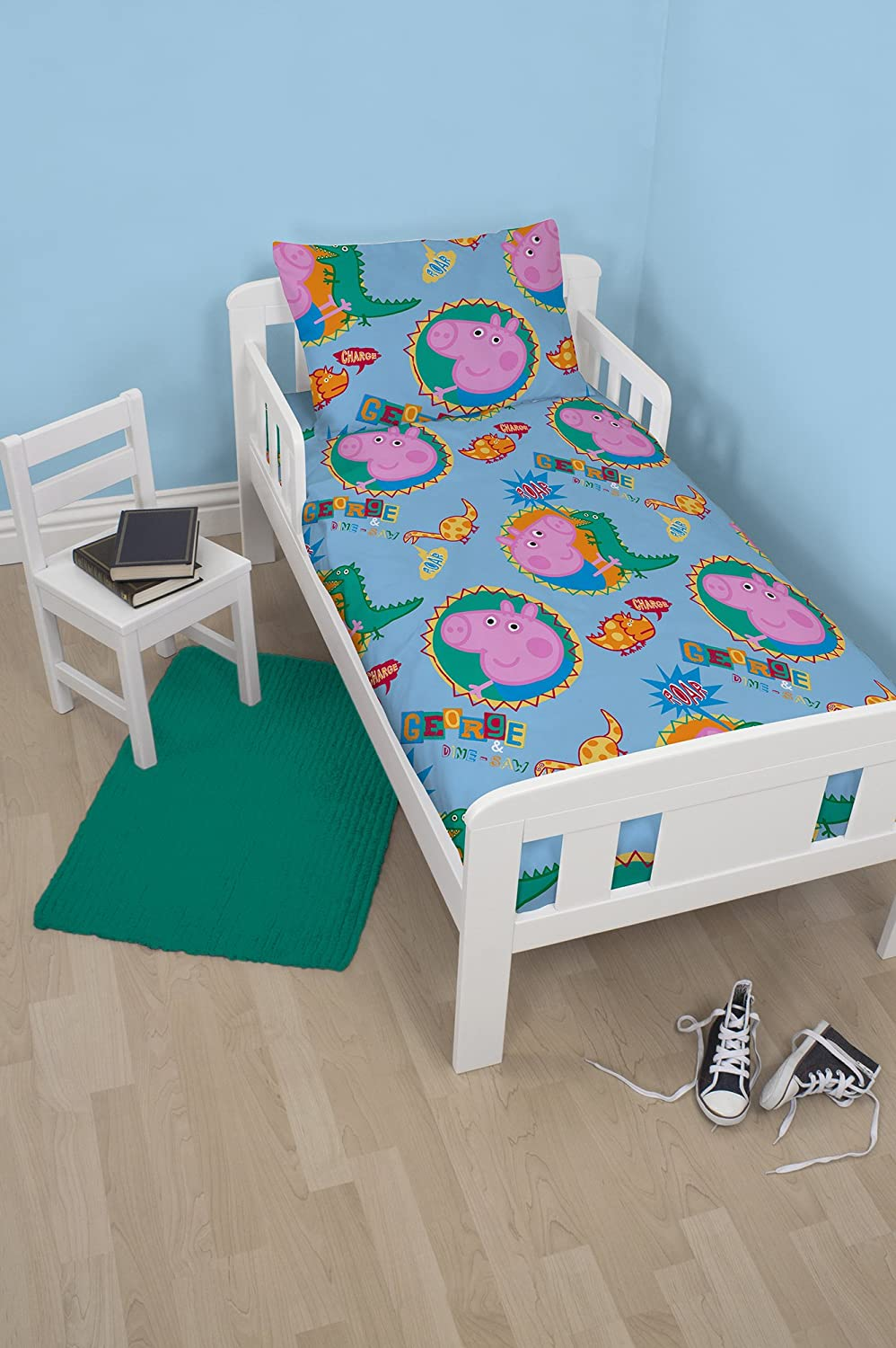 Character World Peppa George Junior Bed Bundle, Multi-Colour (Design/colour variable) PEGRORJB001UK3