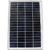 ECO-WORTHY 12 V 25 W énergie solaire Kit: 25 W polycristallin Panneau solaire Module PV avec 3 pieds fil + 30 A Batterie Clips avec 6 pieds Câble d'extension + 3 A 12 V/24 V Contrôleur Solaire
