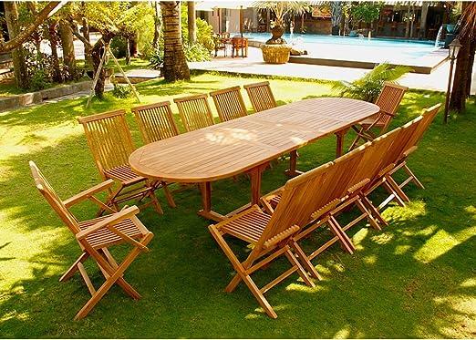 Concept-Usine Kajang: Salon de jardin Teck brut 12/14 pers ...