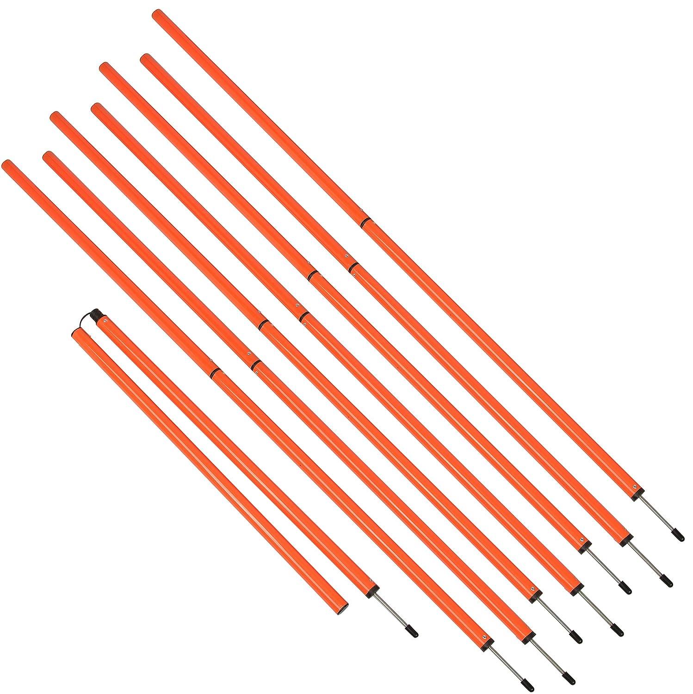 スポーツ指導6 '敏捷性トレーニング極by Trademark Innovations (オレンジ) B015L6785W   8 Poles