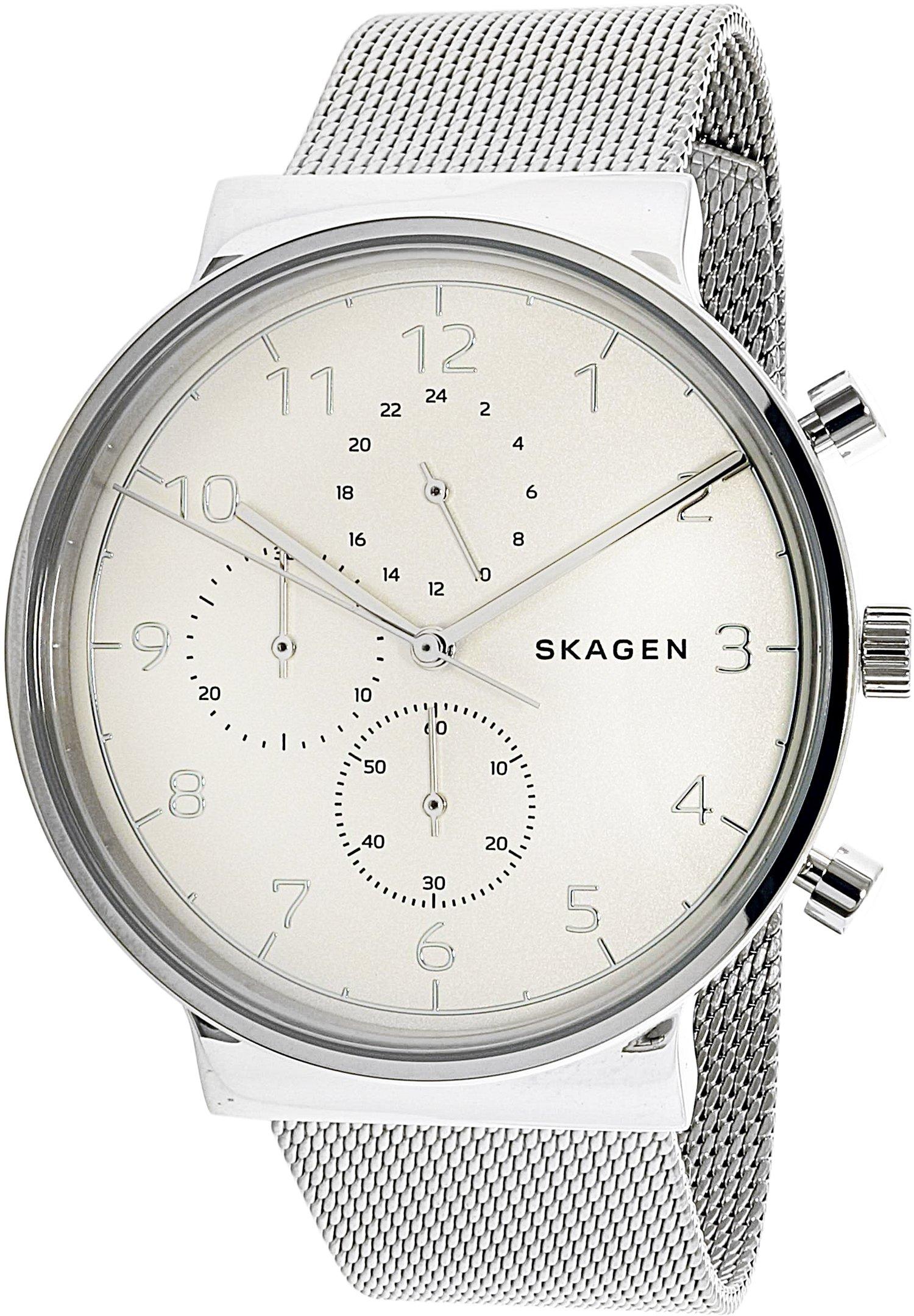Skagen  Men's  SKW6361 Ancher Steel-Mesh Chronograph