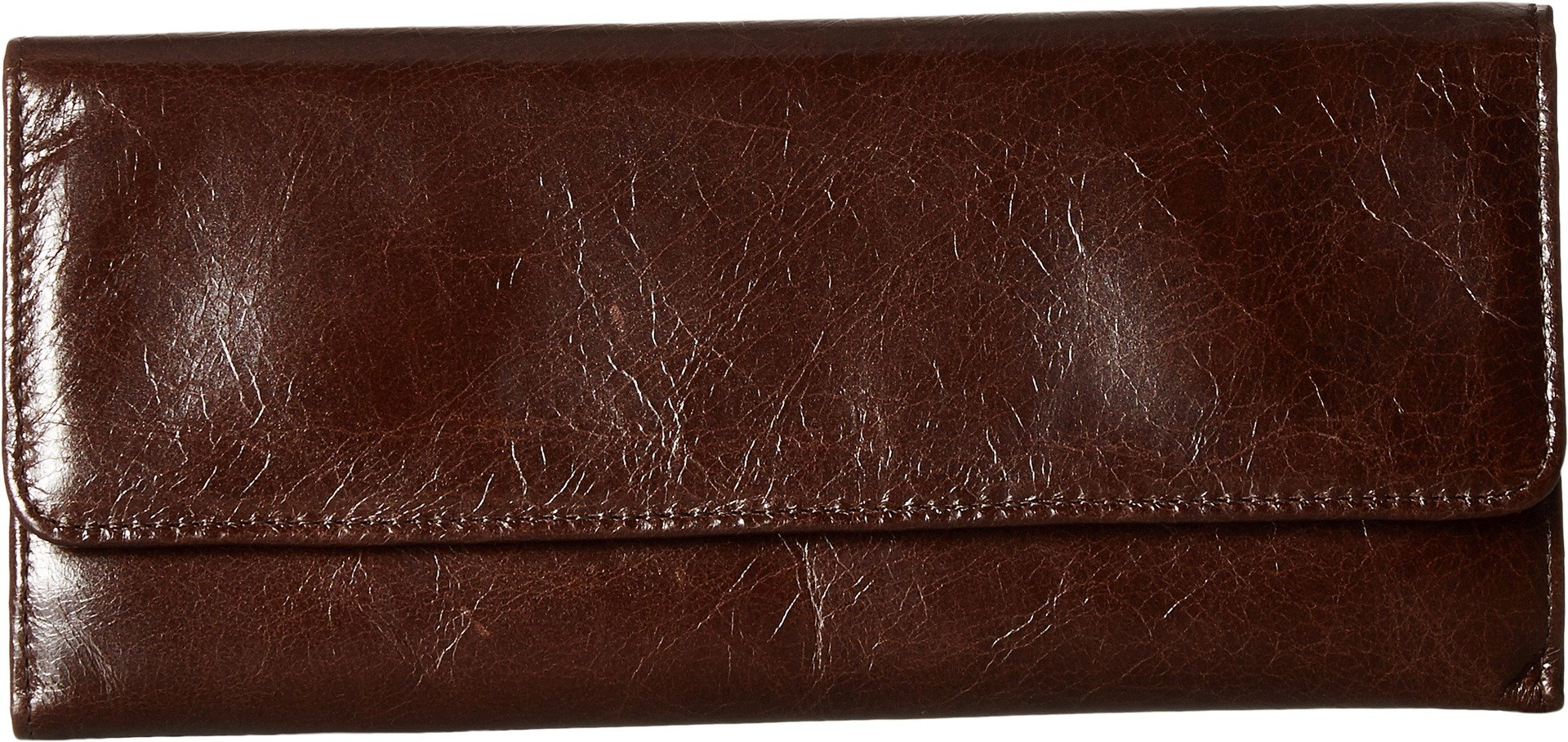 Hobo Womens Leather Sadie Continental Clutch Wallet (Espresso)