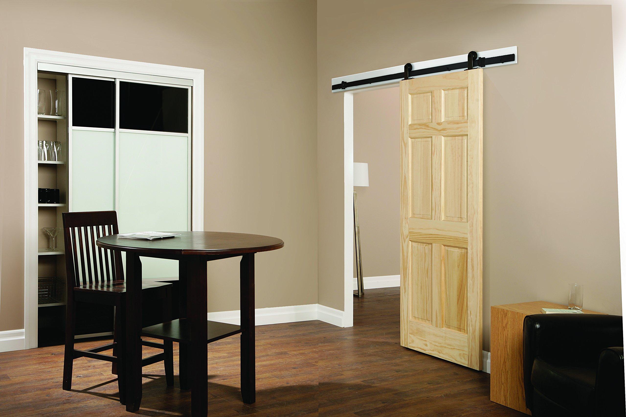 Casa Design & Decor BD101K-07800-MB Rustic Barn Door Hardware Kit