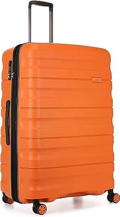 Antler Juno 2 4W Large Roller Suitcase Hardside, Orange, 81cm