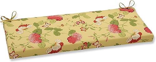 Pillow Perfect Outdoor Indoor Risa Lemonade Bench Swing Cushion, 45 x 18 , Gold