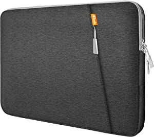 JETech Laptop Sleeve Compatible for 15.4-Inch Notebook Tablet iPad Tab, Waterproof Shock Resistant Bag Case with Accessory Pocket, Grey