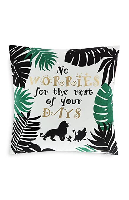 dee9248baaaa Primark Home The Lion King Official Cushion 45cm x 45cm No worries for the  rest of your days: Amazon.co.uk: Kitchen & Home