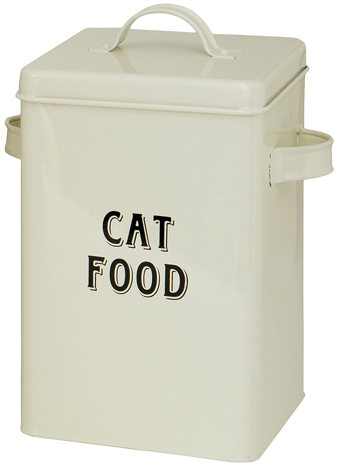 Amazoncom Maturi Cream Metal Cat Food Storage Container Tin with