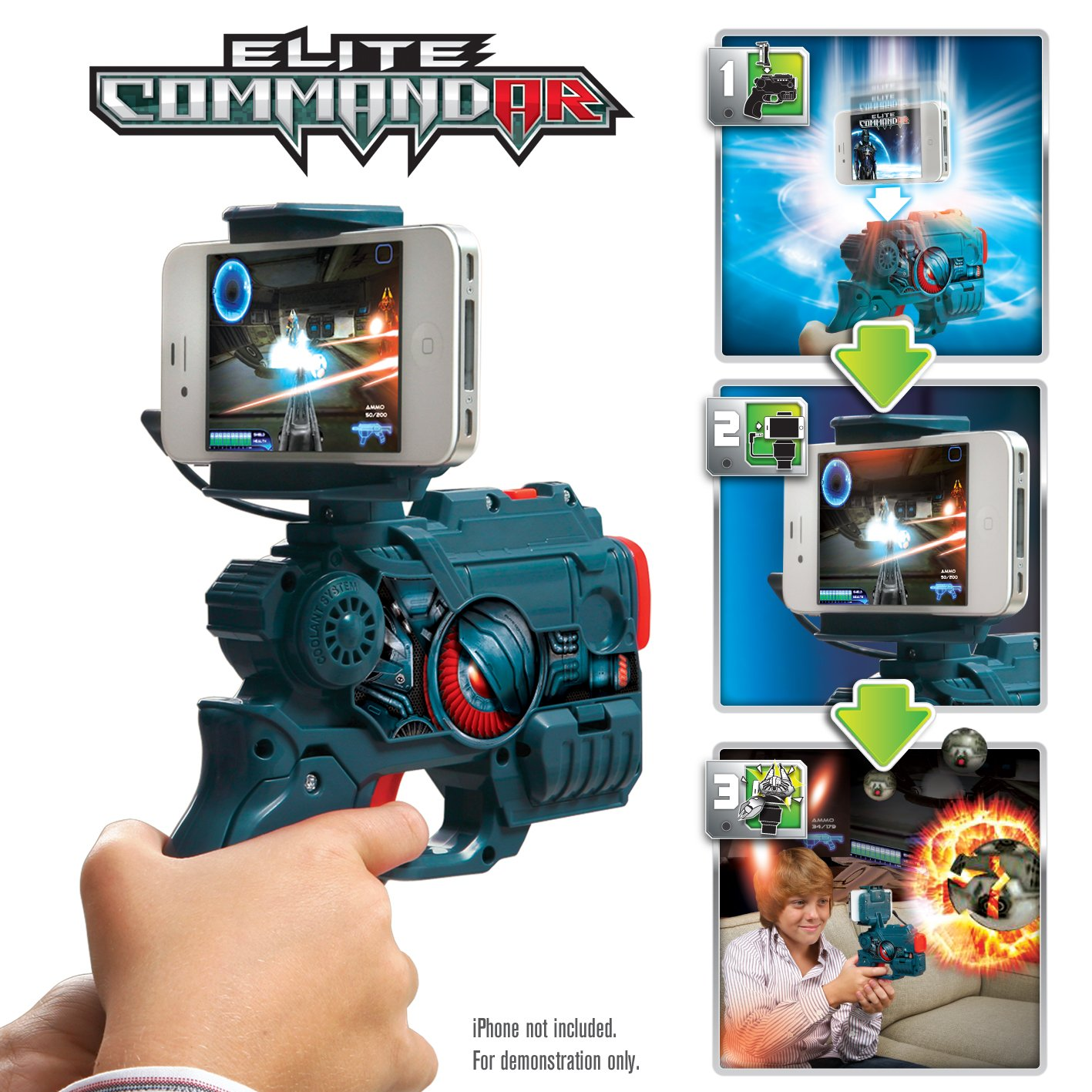 WowWee W0140 AppGear Elite Commandar Edition Mobile Application Game for Apple or Android Devices - Retail Packaging - Grey