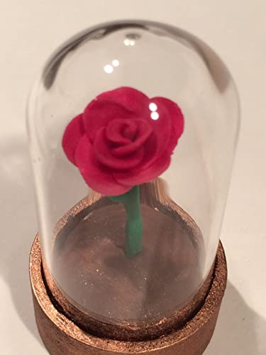 Amazon Beauty And The Beast Tiny Red Rose Handmade