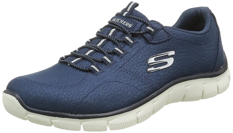 Skechers Empire-Take Charge, Zapatillas de Deporte para Mujer 36.5 EU|Azul Marino (Nvy)