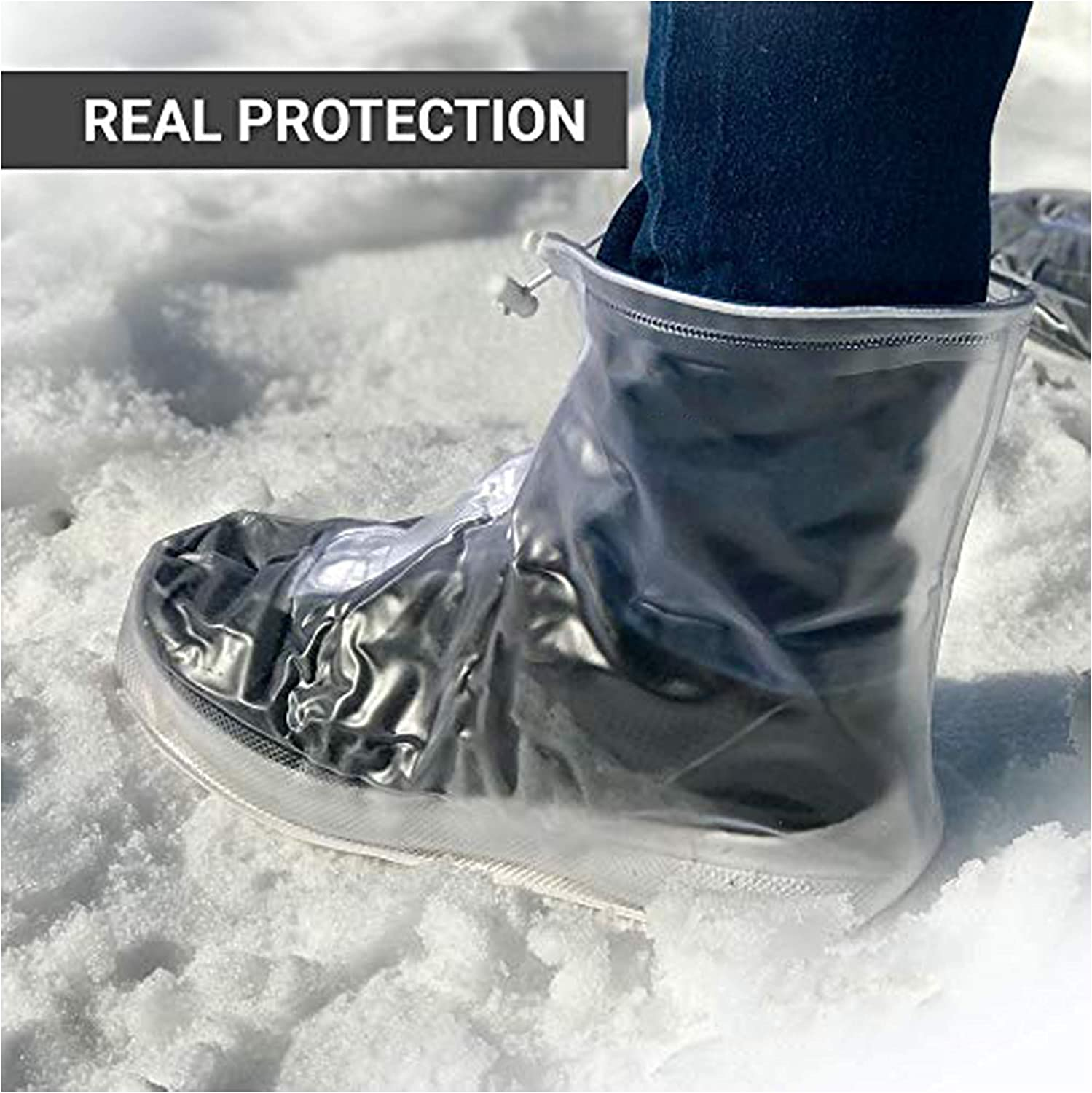 yuyi Reusable Rain Shoes Boots Covers Rain Snow Waterproof Shoe Covers Men//Women//Kids.