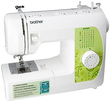 Brother BM-2800 - Máquina de coser (Verde, Blanco, Máquina de coser semiautomática, Costura, 1 paso, Giratorio, Eléctrico): Amazon.es: Hogar