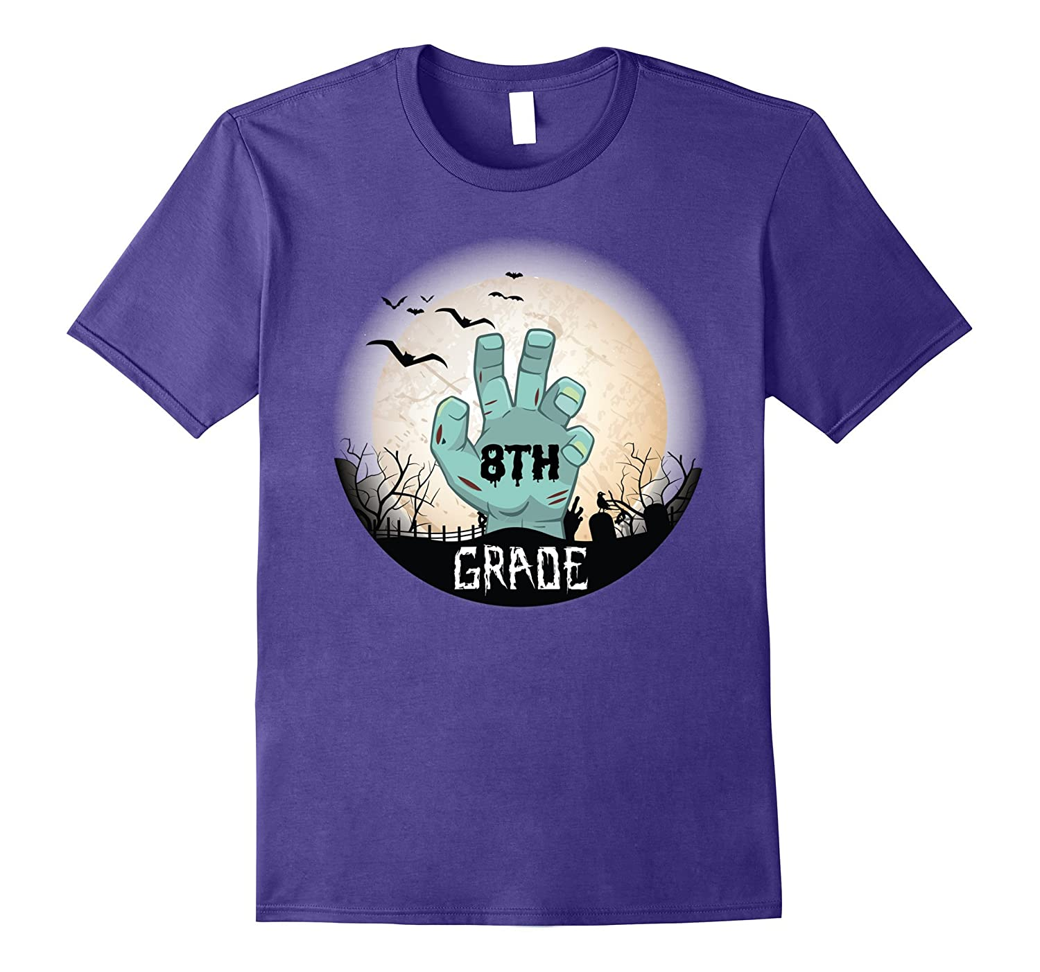 8TH Grade Teachers Students Happy Halloween Day T-Shirt-FL