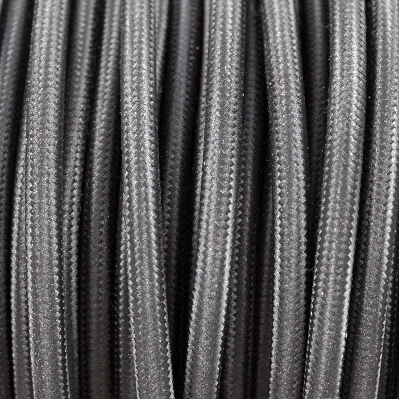 0,75mm/² - Parfait Pour Les Projets De Bricolage Jaune C/âble Electrique Textile Pour Lampe smartect Longueur 1 Metre Avec 3 Broches