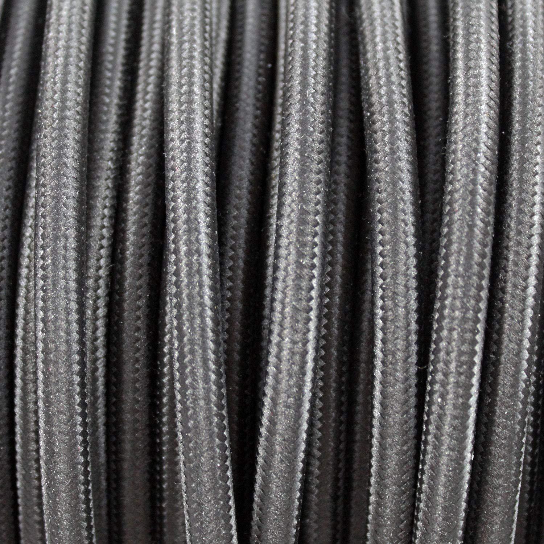 Cable textil trenzado de 5 Metro 3 x 0,75 mm/² 3 hilos smartect Cable para l/ámparas de tela en color Rojo - Cable de luz con revestimiento textil