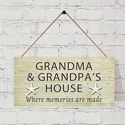 Phenomenal Amazon Com Bevis554Yule Grandma And Grandpas House Sign Download Free Architecture Designs Philgrimeyleaguecom
