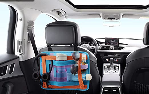 Amazon.com: Admirable Idea Car Back Seat Organizer Car Kick Mats for Toy Bottles Ipad Cables Storage,Anti-Slip Elastic Grid Organizer: Baby