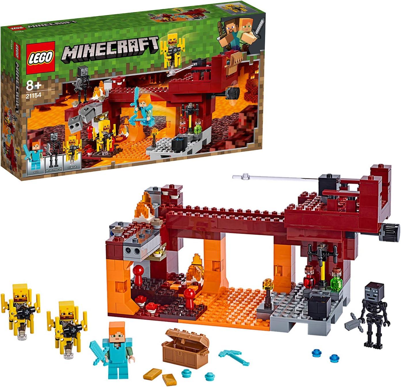 【メーカー特典】レゴ(LEGO) マインクラフト ブレイズブリッジでの戦い 21154 + クリスマスツリーミニセット付き