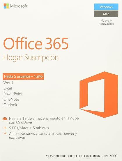 773186561 Microsoft Office 365 Hogar Premium (5PC o Mac)  Amazon.com.mx ...