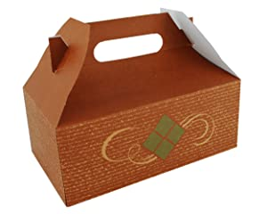 Southern Champion Tray 27016 Clay Coated Kraft Paperboard Hearthstone Small Barn Style Carry Out Box, 5 lbs Capacity, 8-7/8
