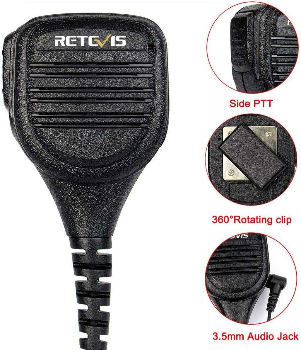 Retevis Walkie Talkies Mic 2 Pin 3.5mm Audio Jack Shoulder Speaker Microphone for Baofeng BF-888S UV-5R Retevis RT22 RT21 RT-5R 2 Way Radios 1 Pack