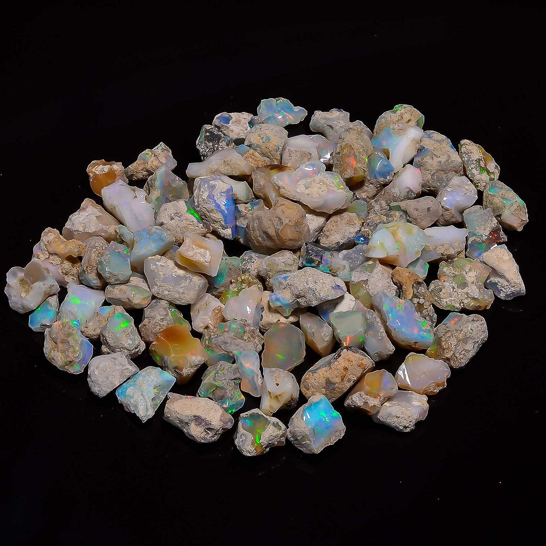 Natural AA Ethiopian Opal Organic Stone Rainbow Opal Energy Stone DIY Jewelry Making Supplies 5pcs Yoga Christmas gift Chakra Healing DIY Gifts Art Crafts Polished Crystals and Gemstone