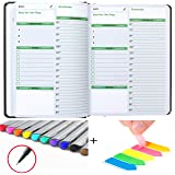 Undated Planner Organizer- Daily Organizer, Hourly, Day and Monthly 2020 Planner Full Size Non-Dated Calendar Journal…