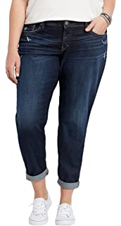 713c76f8 Amazon.com: Silver Jeans Co. Women's Plus Size Suki Curvy Fit Mid ...