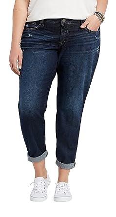 47e1d638c0fbd Amazon.com  Silver Jeans Co. Women s Plus Size Boyfriend Relaxed Fit ...