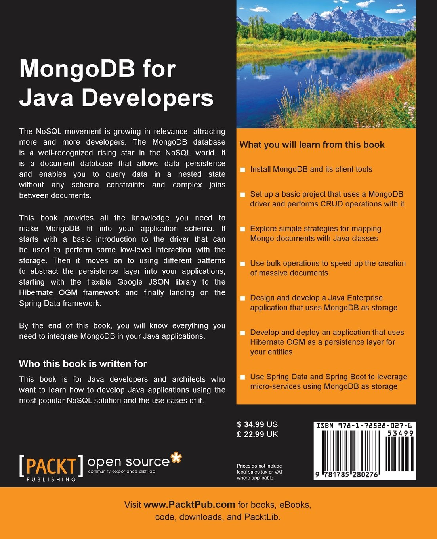 MongoDB for Java Developers: Amazon co uk: Francesco Marchioni