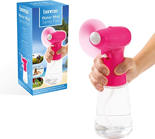 Benross Water Mist - Ventilador portátil de mano con pilas, ideal ...
