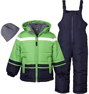 M/&A Baby Girls Boys 2-Piece Snowsuit Hooded Winter Coat Down Jacket
