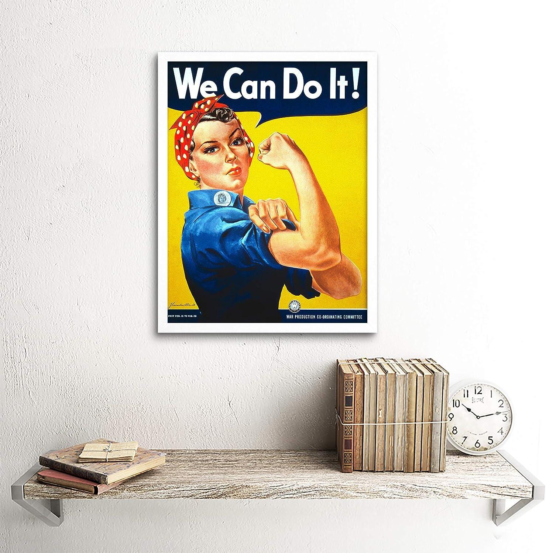War Propaganda Second World We Can Do It Women USA Vintage Wall Art Print Mur Encadr/é D/écor 30 x 41 cm