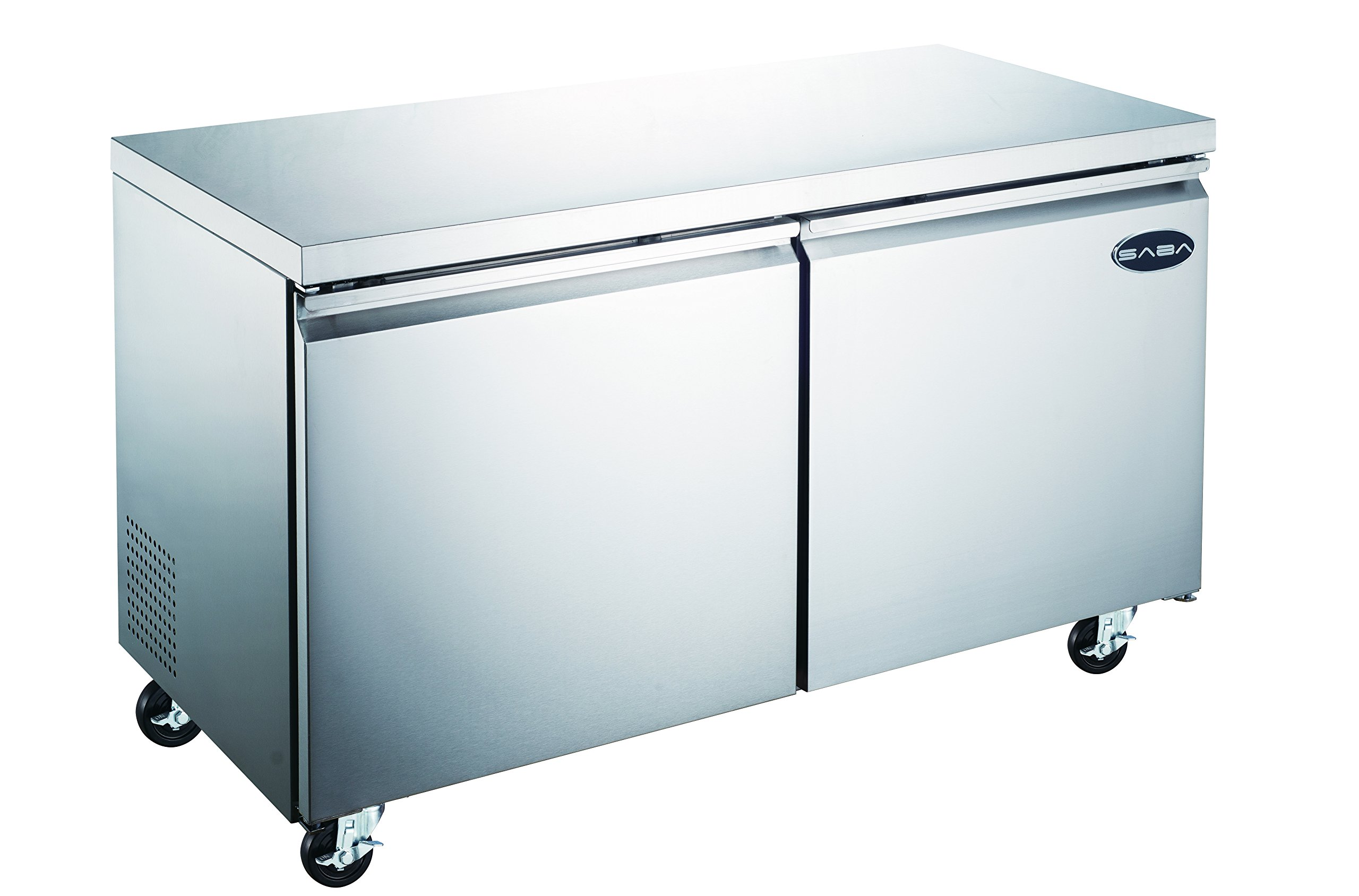 SABA 48'' Undercounter Refrigerator, 2 Door, Stainless Steel