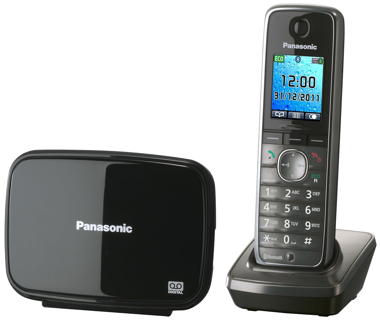 Panasonic KX-TG8621GM - Teléfono inalámbrico DECT (auriculares por Bluetooth, transferencia de contactos), color negro: Amazon.es: Electrónica