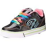 Heelys Motion Girls Shoes - Black/Hot Pink/Rainbow