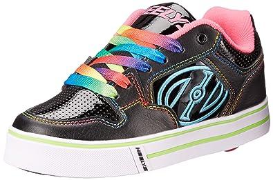 Heelys Motion Plus Black/Pink/Rainbow Kids 5uk UJlu2xwL