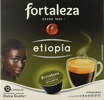 Café FORTALEZA - Cápsulas de Café Etiopia Compatibles con Dolce Gusto - Pack 3 x 12 - Total 36 cápsulas: Amazon.es ...