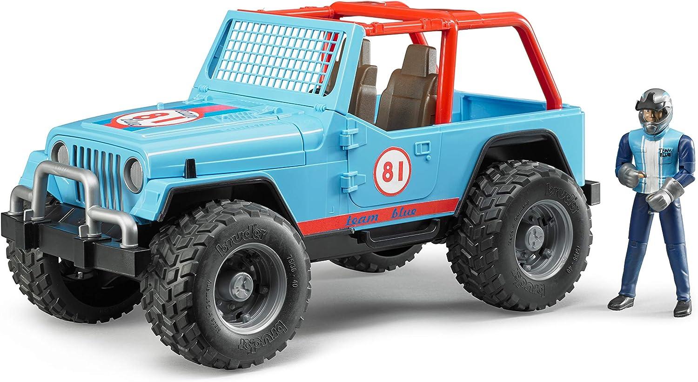 Bruder 02541–Coche de Juguete Jeep Cross Country Racer con Conductor