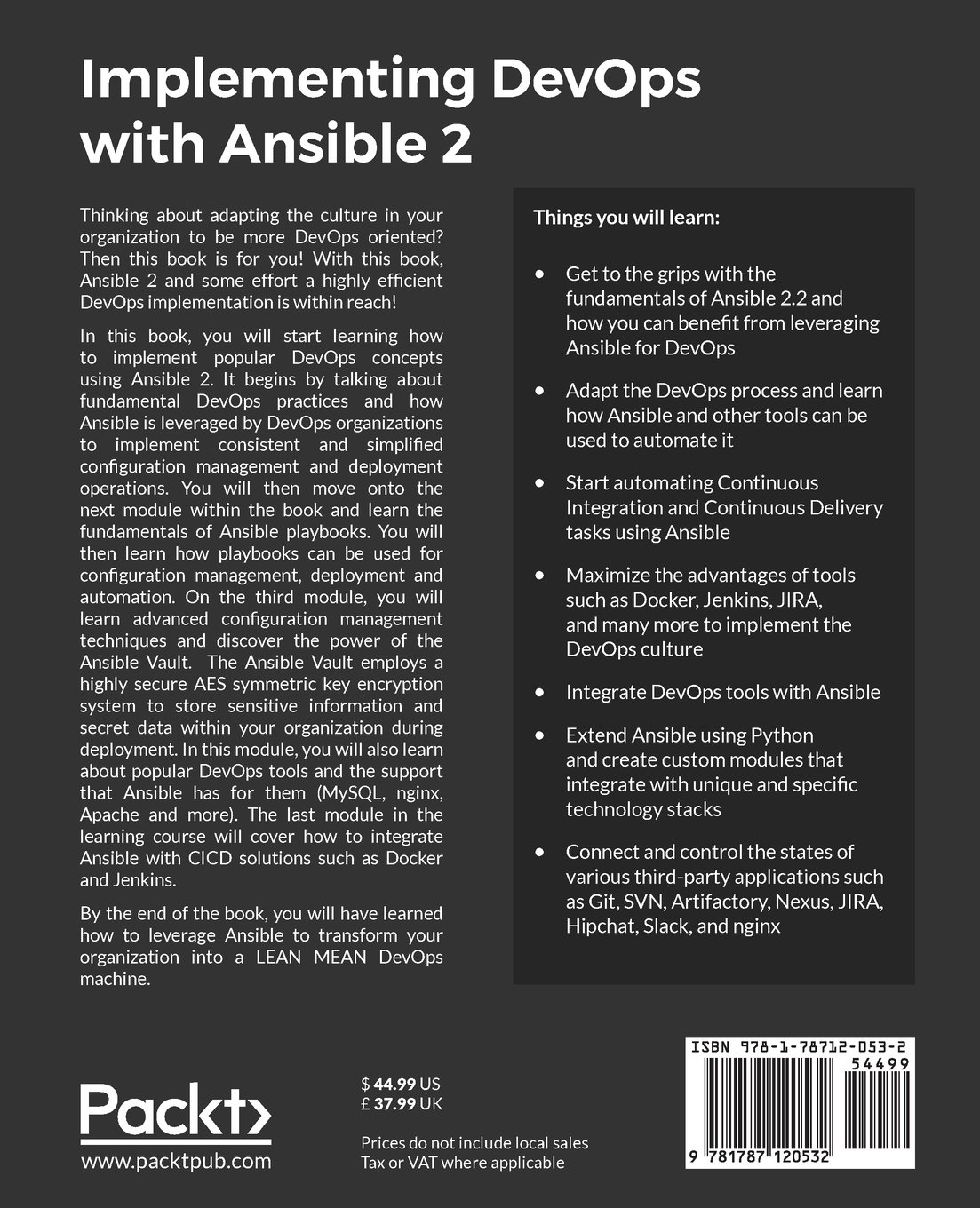 Implementing DevOps with Ansible 2: A step-by-step guide to