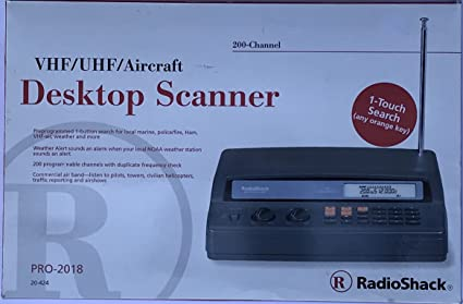 amazon com radio shack police desktop scanner pro 2018 200 channel rh amazon com Radio Shack Scanner Troubleshooting Radio Shack Handheld Scanner Manual