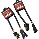 Mega Racer 1 Pair Universal HID Xenon Conversion Kit Computer Dashboard Error Warning Canceller Decoder & Anti-Flicker Capacitor US