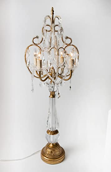 Opulent Treasures Chandelier Table Lamp Gold Amazoncom