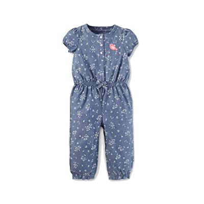 Carter's ust One You Made Baby Girls' Little Bird Romper - Chambray