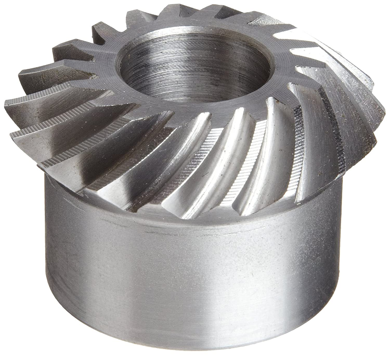 18 Pitch Boston Gear LSA110YR Spiral Miter Gear 35 Degree Spiral Angle Steel 18 Teeth 0.375 Bore 1:1 Ratio